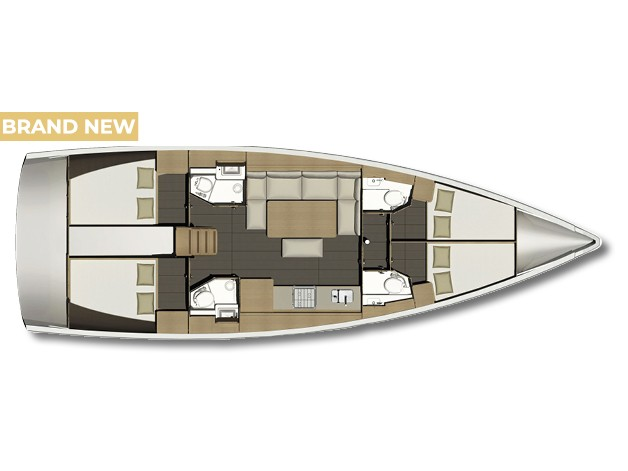 Dufour 460 Grand Large (#003) Plan image - 3