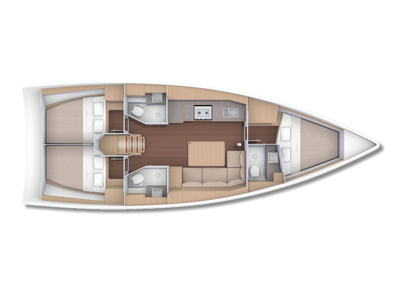 Dufour 390 Grand Large (#003) Plan image - 22