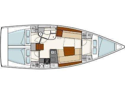 Hanse 415 (Serenity) Plan image - 1