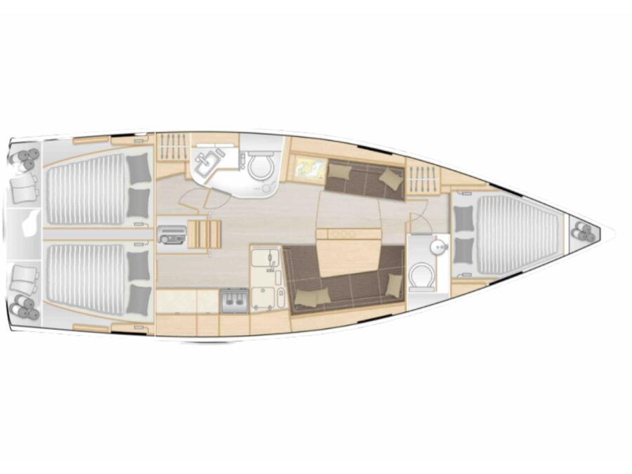 Hanse 388 (Qalma) Plan image - 1