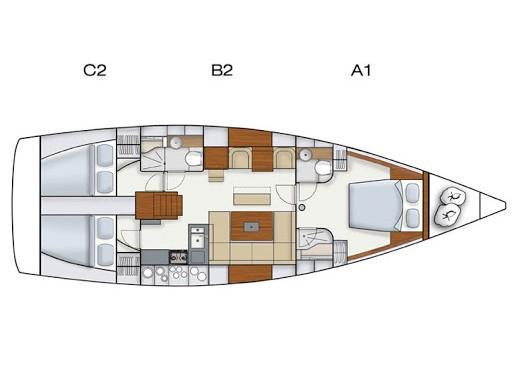 Hanse 445 (Daydream) Plan image - 1