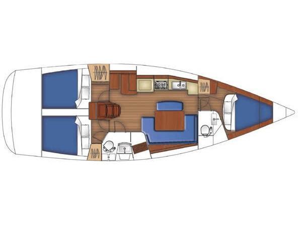 Oceanis 40 (Eps-Epp) Plan image - 5