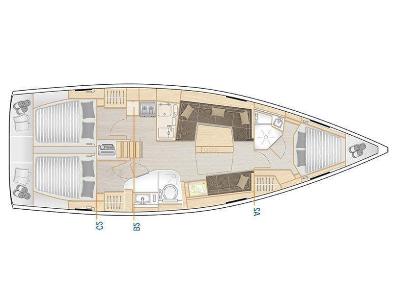 Hanse 418 (TERSANE) Plan image - 2