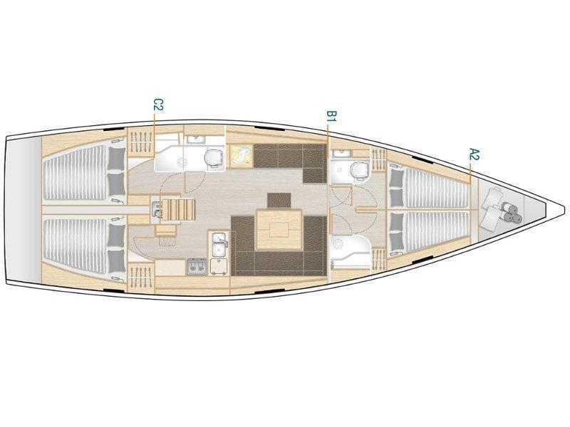 Hanse 458 (YASSICA) Plan image - 2