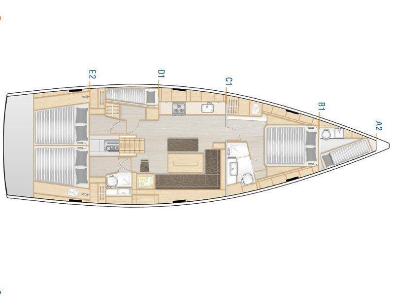 Hanse 508 (HAMAM) Plan image - 1