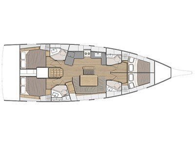Oceanis 46.1 (Antonela M. with A/C and generator) Plan image - 69