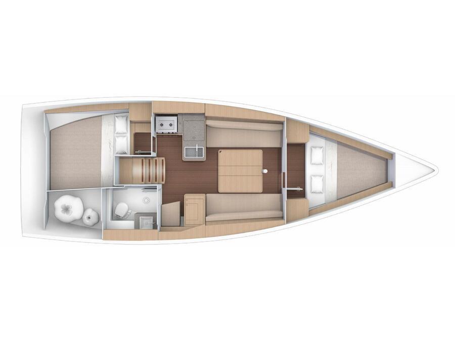 Dufour 360 (Mar me Quer) Plan image - 1