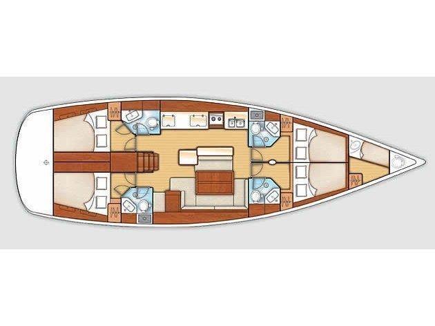 Oceanis 50 Family (Ethereum (A/C - Generator)) Plan image - 1