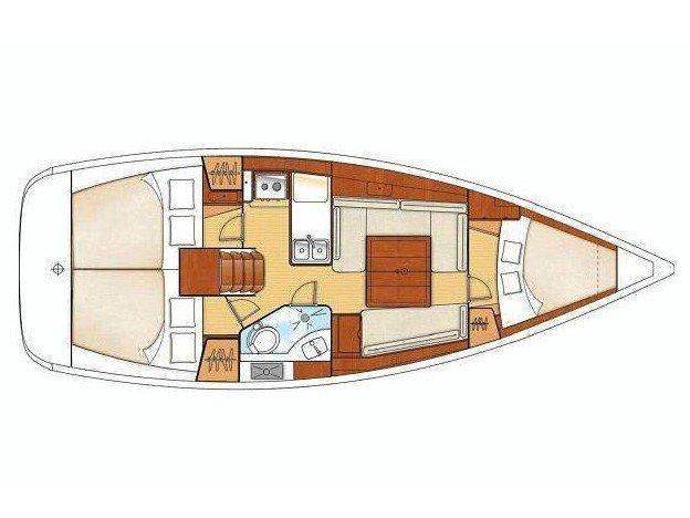 Oceanis 343 (Oceanis 343 Clipper) Plan image - 1