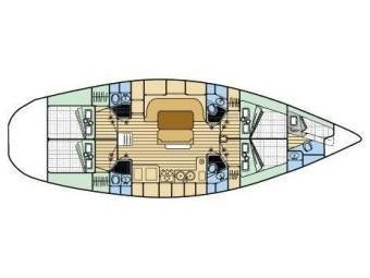 Oceanis 510 (Blue Star) Plan image - 11