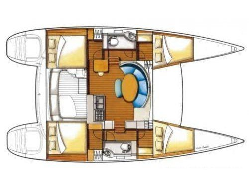 Lagoon 380 S2 (4+2 cab) (RELAX) Plan image - 9