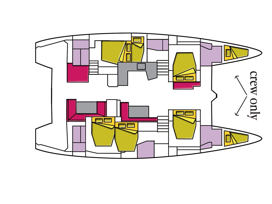 Lagoon 52F - 6 cab (Dugongo II (MAR)) Plan image - 10