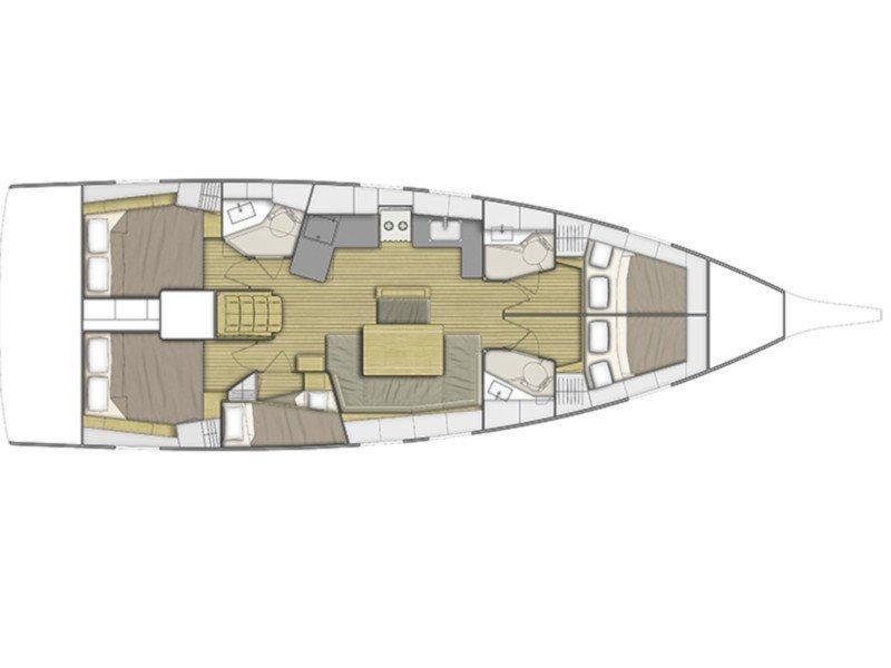 Oceanis 46.1 (Ord #167817 (Sunday to Sunday)) Plan image - 1