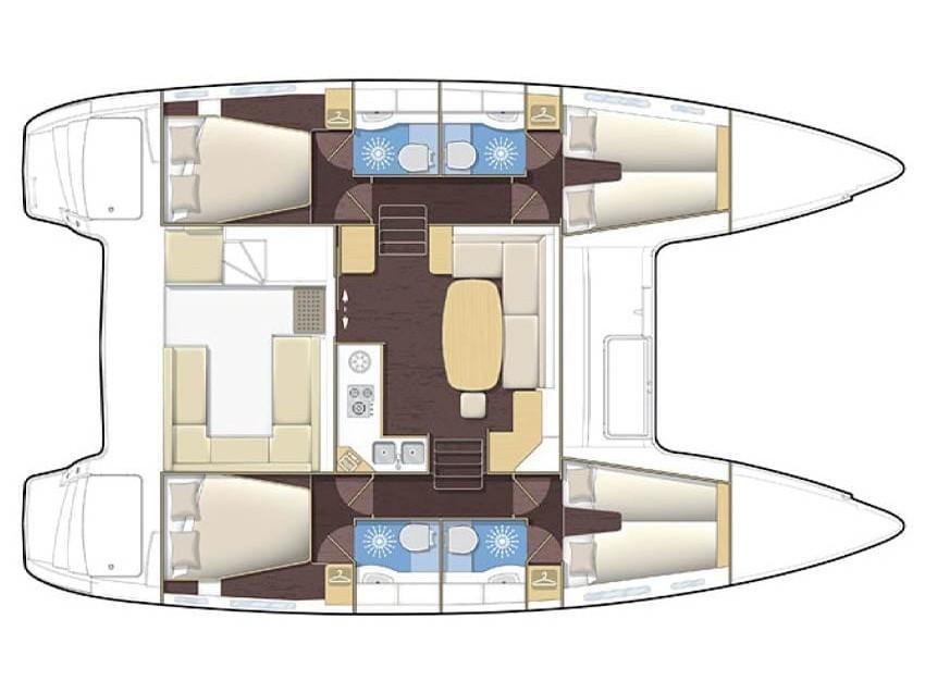 Lagoon 400 (ARIANNA) Plan image - 2