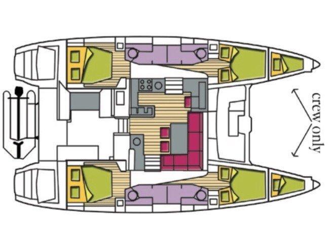 Lagoon 450F (Kaus Australis (A/C, WM, Generator, Inverter)) Plan image - 12