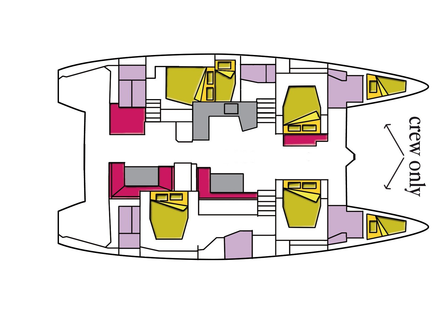 Lagoon 52F (5 cab) (Big Mama (A/C, WM, Generator, Inverter, Tender Lift)) Plan image - 7
