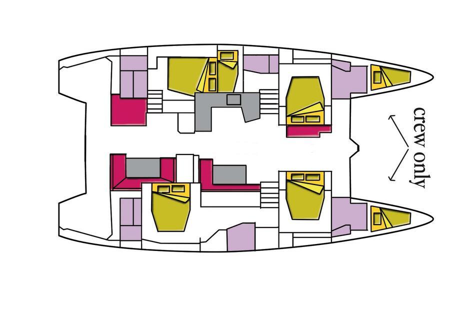 Lagoon 52F (5 cab) (Big Mama (A/C, WM, Generator, Inverter, Tender Lift))  - 5