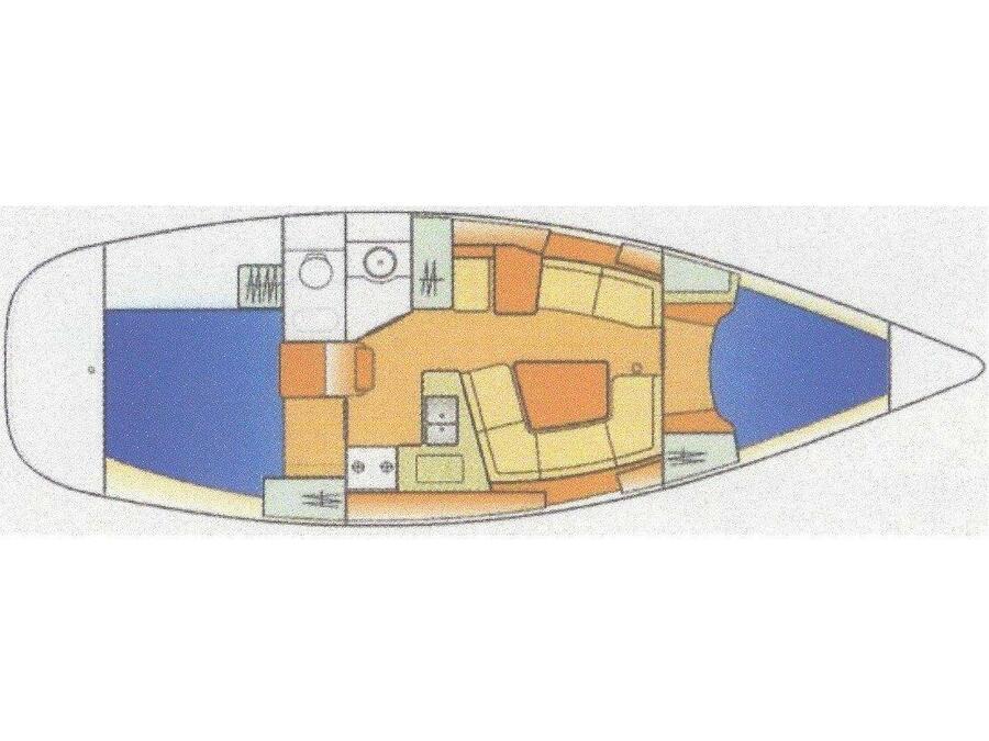 Sun Odyssey 35-2 Cabin (Balina) Plan image - 3