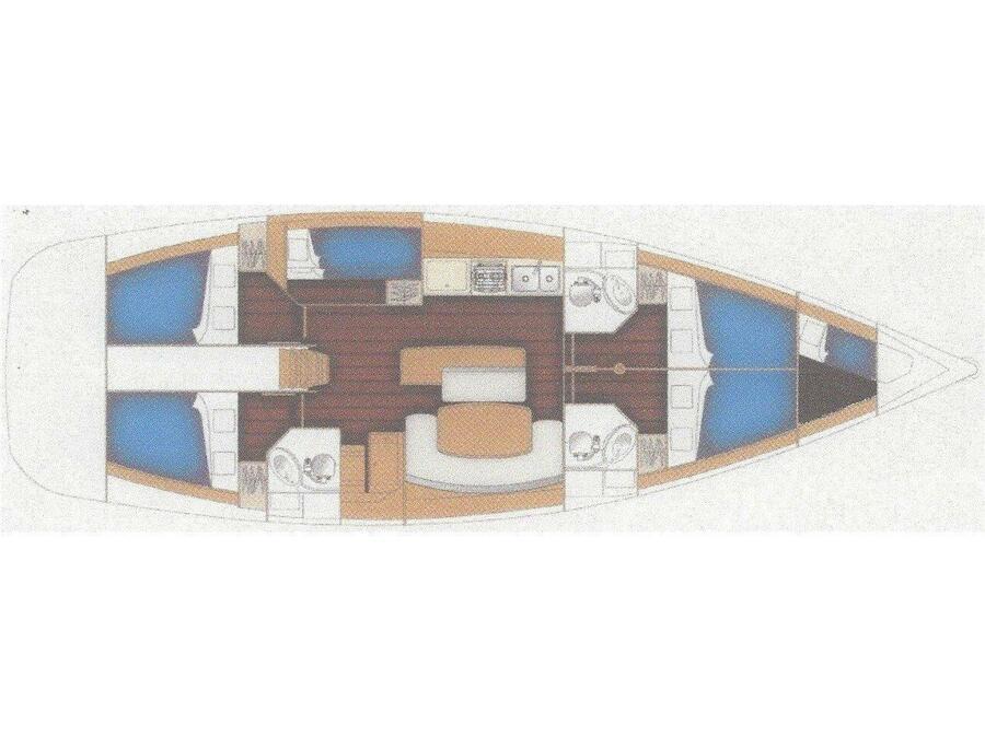 Cyclades 50.5 (Take Five) Plan image - 4