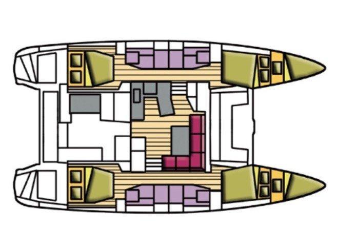 Lagoon 42 (Beta Persei II (A/C, WM, Generator, Inverter)) Plan image - 8