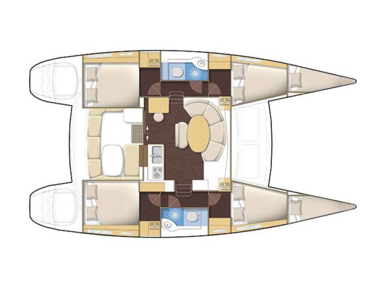 Lagoon 380 (Gratia) Plan image - 12
