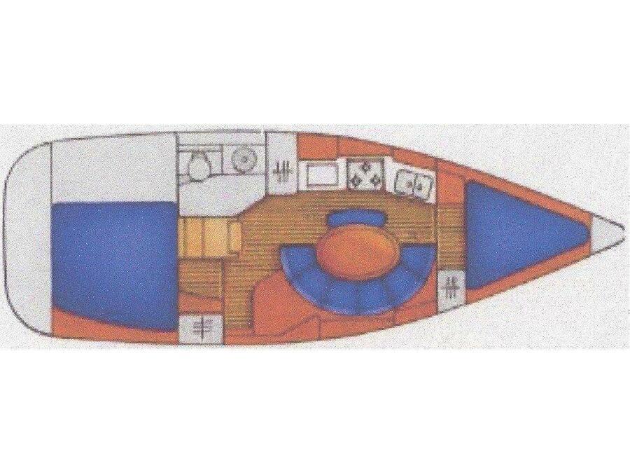 Sun Odyssey 34.2 (Papalagi) Plan image - 2