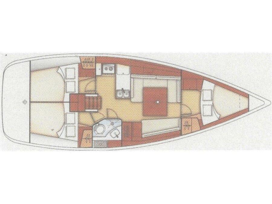 Oceanis 37 (Glen Rosa) Plan image - 1