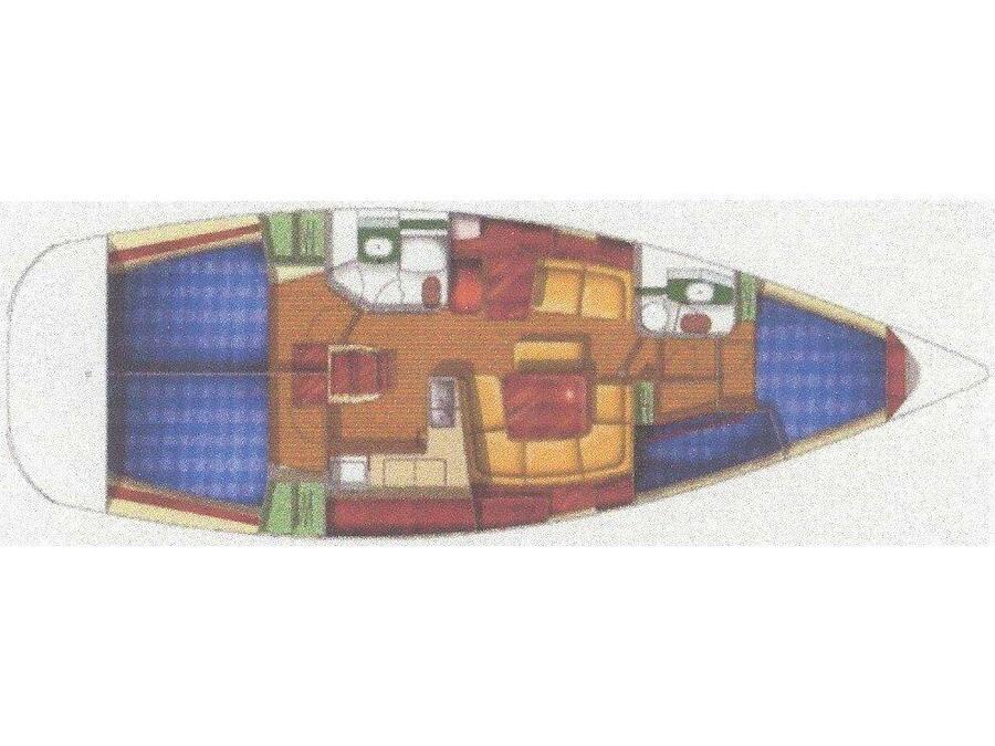 Sun Odyssey 43 (Saida) Plan image - 2