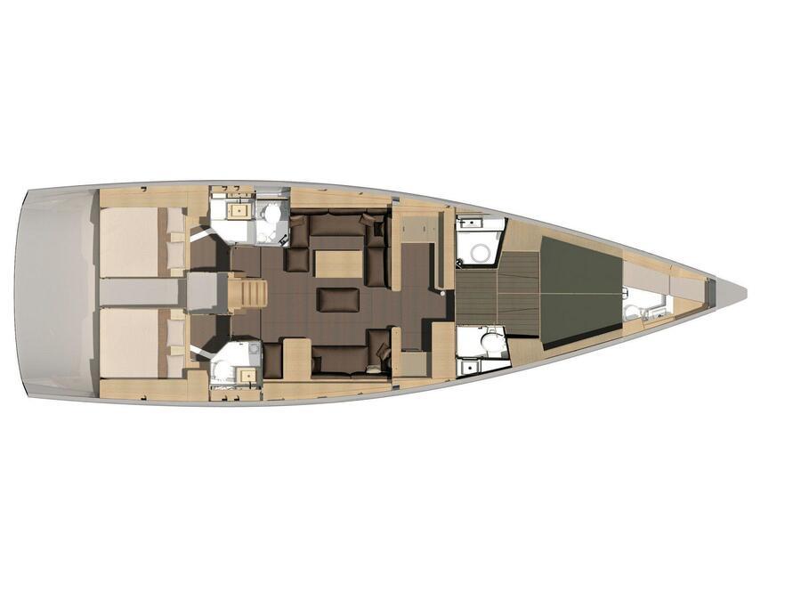 Dufour 56 Exclusive (Galadriel's Light) Plan image - 5