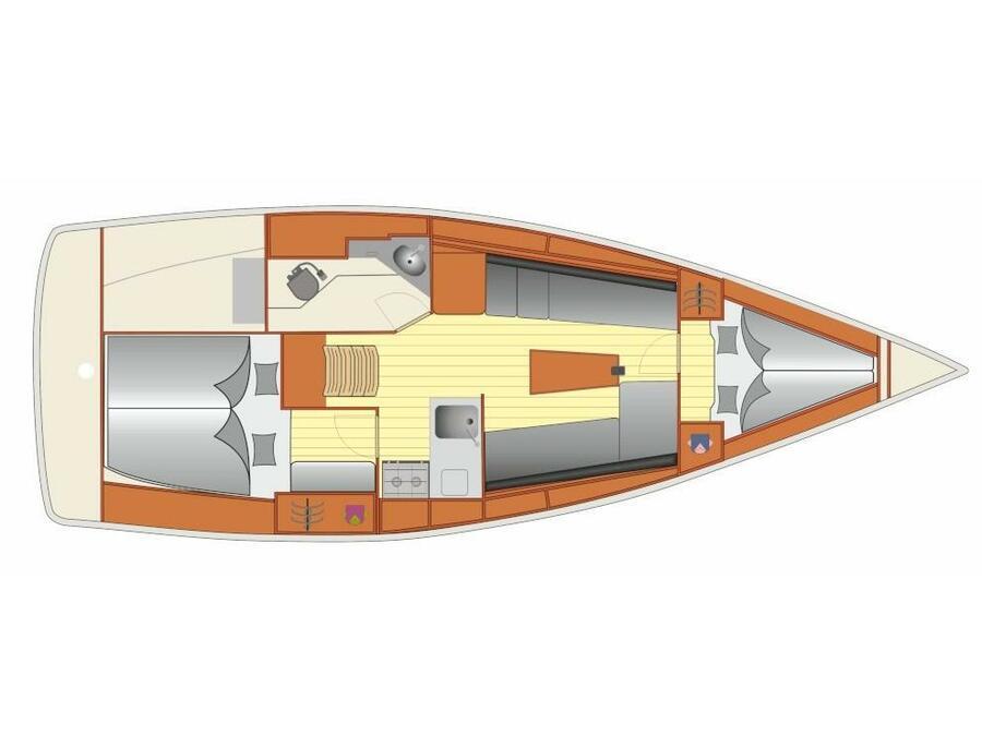 Bavaria Cruiser 34 (Sora) Plan image - 2