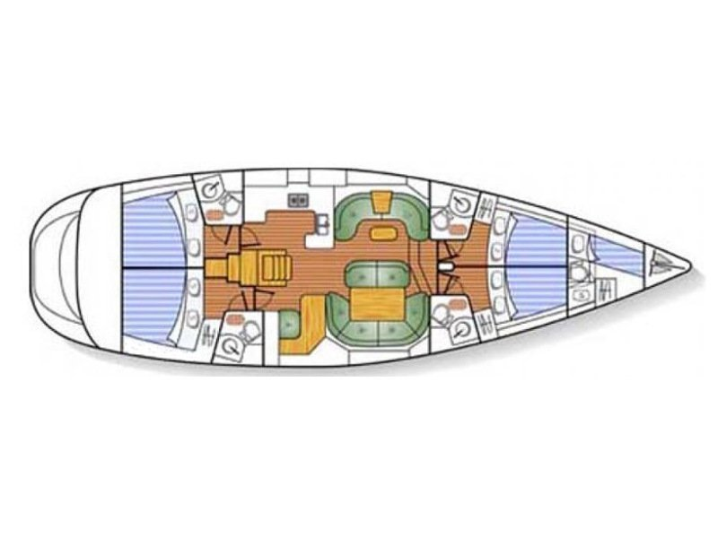 Jeanneau Sun Odyssey 54DS (Anna Katharina 1) Plan image - 7