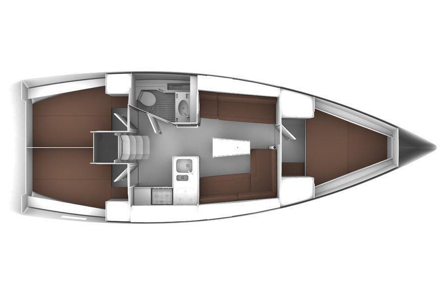 Bavaria Cruiser37 (Dora) Interior image - 14