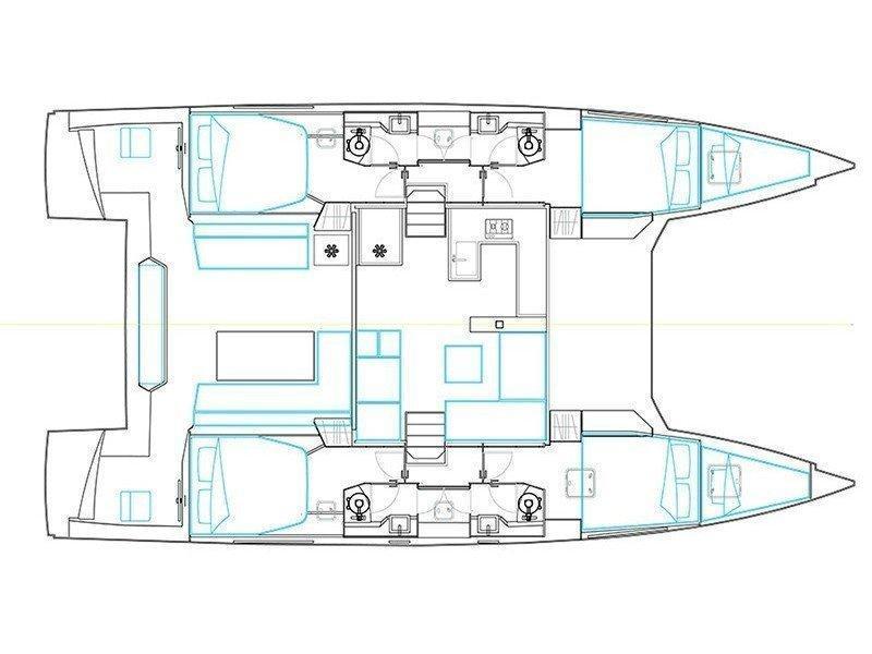 Nautitech 46 Fly (CABRIO) Plan image - 3