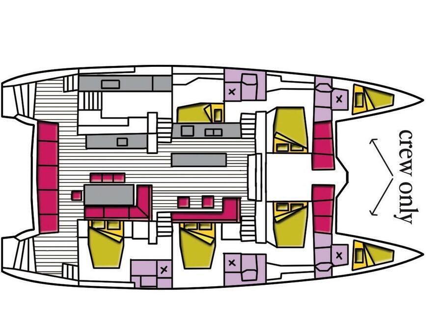 Lagoon 620 (The Sun (A/C, WM, Generator, Inverter, Tender Lift)) Plan image - 6