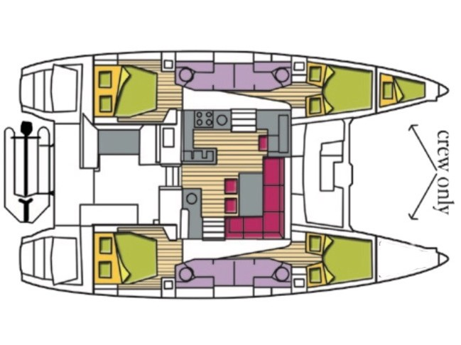 Lagoon 450 F (4cab+1) (Dugongo (Solar Panels)) Plan image - 9