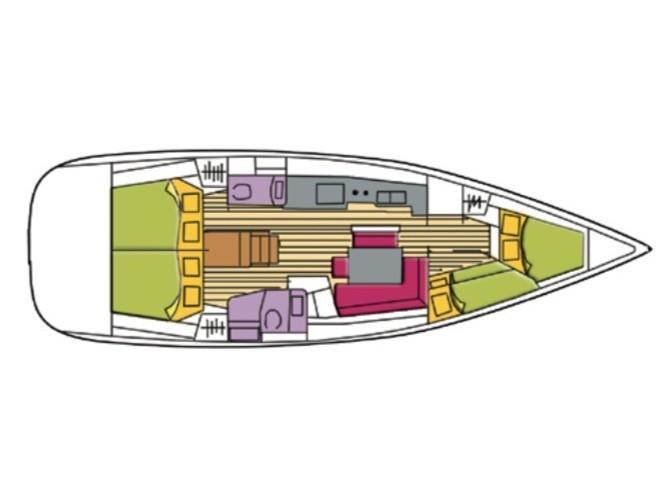 Oceanis 46 (Shedir ) Plan image - 7