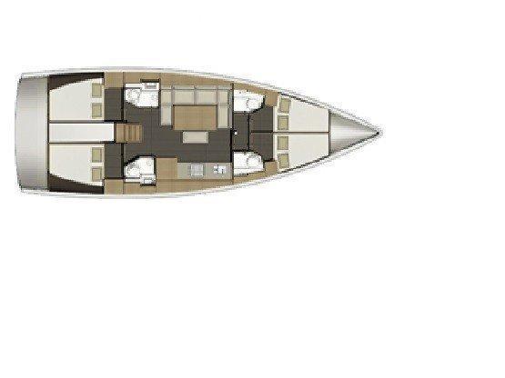 Dufour 460 Grand Large (Alegro) Plan image - 8