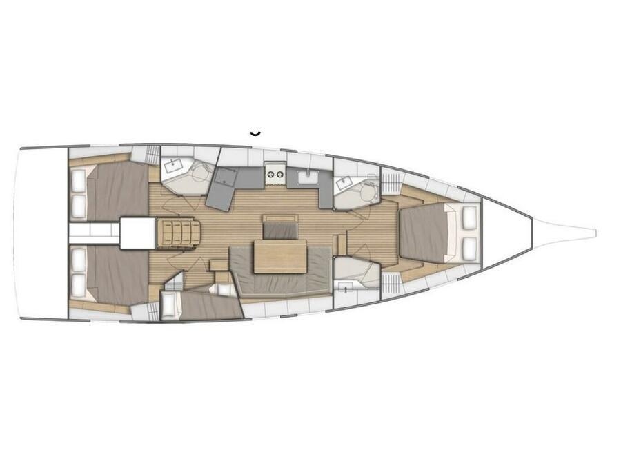 Oceanis 46.1 (4cabs-2heads) (Electra (Inverter)) Plan image - 4