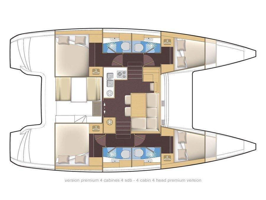 Lagoon 39 (Silverstar I) Plan image - 2