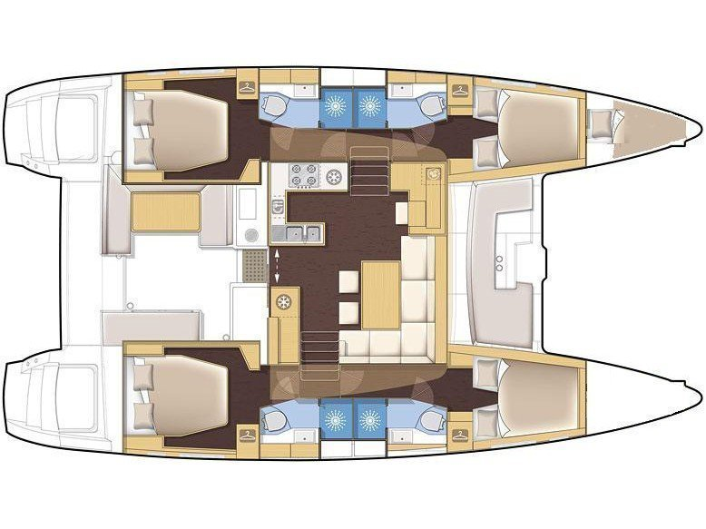 Lagoon 450 (Siddhartha) Plan image - 2