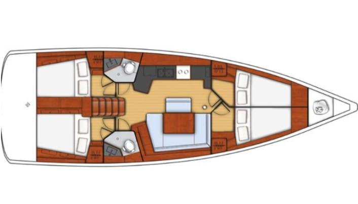 Oceanis 45  (Pa')  - 4
