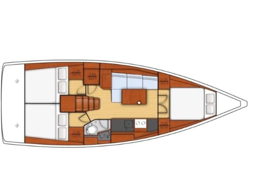 Oceanis 38.1 (Chica) Plan image - 2
