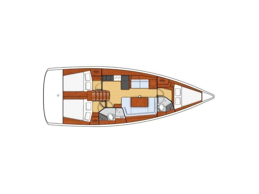 Oceanis 41.1  2020  (Kira) Plan image - 1