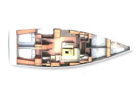 Hanse 505 (Marina Estrella Three (PMI)) Plan image - 4