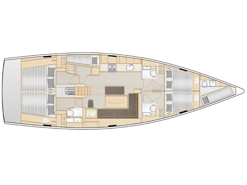 Hanse 508 (ARTEMIS (A/C, Gen, Watermaker)) Plan image - 6