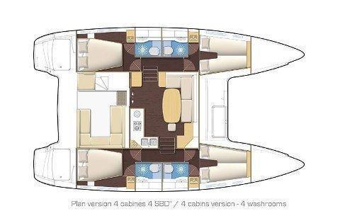 Lagoon 400 (SIMBA) Plan image - 20
