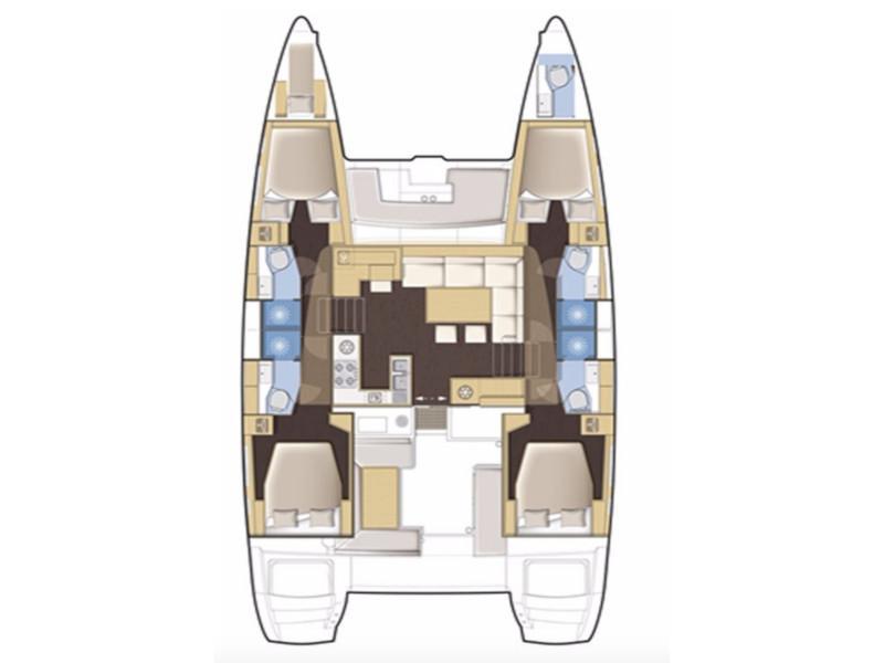 Lagoon 450F (Silver Pearl) Plan image - 1