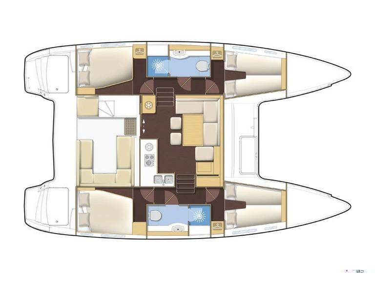 Lagoon 400 S2 (Luna Lu (PMI)) Plan image - 7