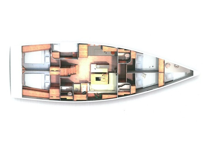Hanse 505 (Marina Estrella One (PMI)) Plan image - 2
