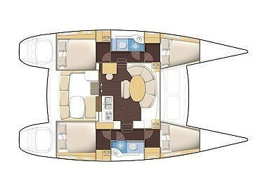 Lagoon 380 S2 (My Princess) Plan image - 1
